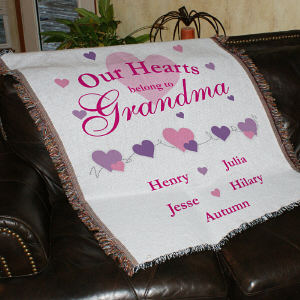 Our Hearts Belong To... Personalized Tapestry Throw