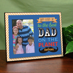 Best Dad Printed Frame
