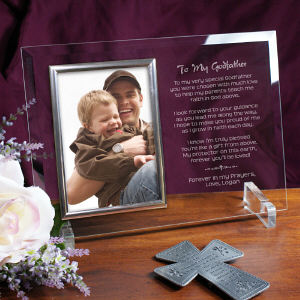 Godfather Personalized Beveled Glass Frame