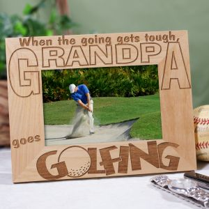 Personalized Goes Golfing Frame