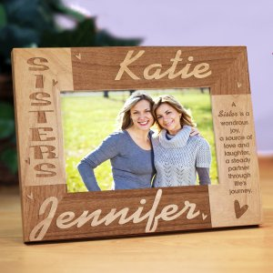 Sisters Personalized Wooden Picture Frame