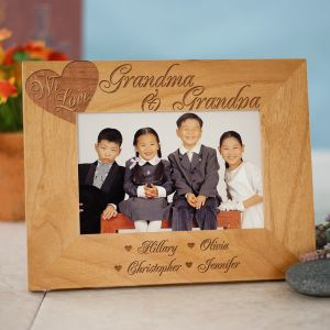 Engraved We Love...Wood Picture Frame