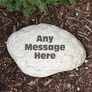 Any Message Garden Stone