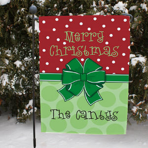Bow Christmas Garden Flag