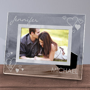 Engraved Just the Two Of Us Glass Picture Frame