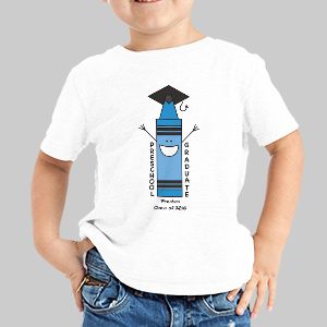 Personalized Preschool Blue Graduation T-Shirt