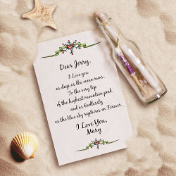Endless Love Personalized  Message in a Bottle