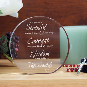 Engraved Serenity Prayer Keepsake