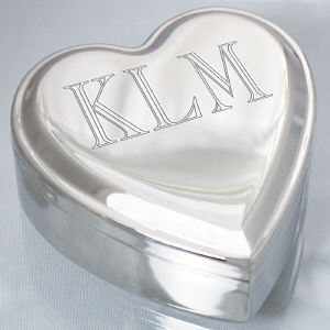Single Name Heart Jewelry Box