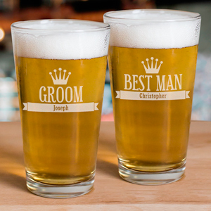 Engraved Groomsmen Glass