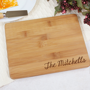 Engraved Bamboo Cheese Board