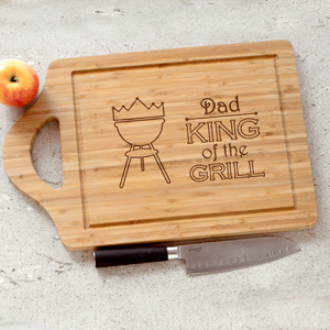 Personalized King of the Grill Cutting Board