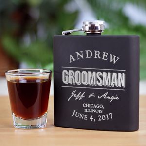 Engraved Groomsmen Steel Flask