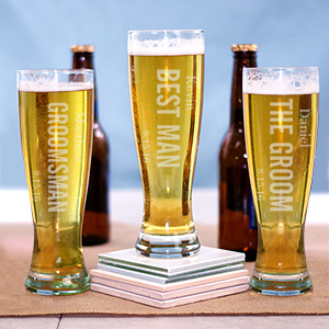 Bridal Party Pilsner Glass