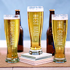 Engraved Wedding Party Pilsner Glass L760941