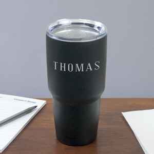 Black any name tumbler