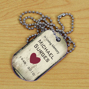 Personalized Memorial Dog Tag