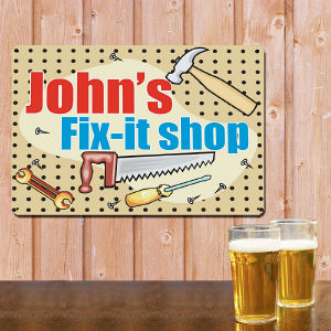 My Fix It Shop Personalized Metal Wall Sign