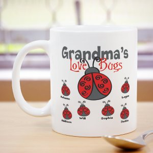 Personalized Love Bugs Coffee Mug