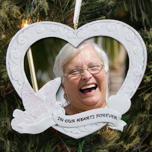 Memorial Photo Heart Ornament