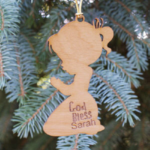 Personalized Christian Ornament for Girls