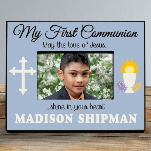 My First Communion Frame in Blue
