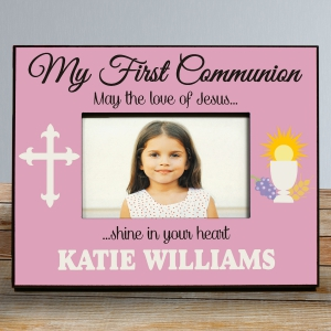 My First Communion Frame in Pink