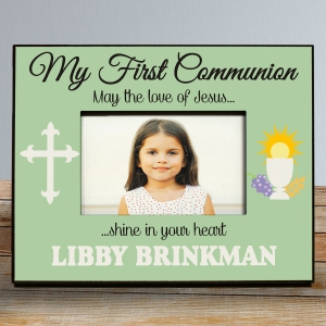 My First Communion Frame in Green