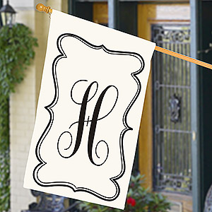 Personalized Monogram House Flag