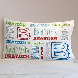 Personalized Name Toddler Pillowcase