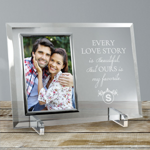 Engraved Every Love Story Glass Frame