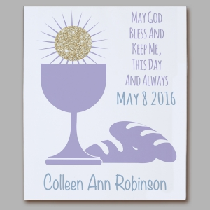 First Communion Eucharist Wall Canvas