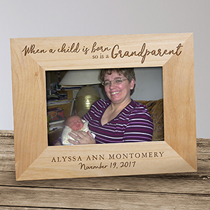 Engraved Grandparent Wood Picture Frame