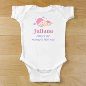 Personalized Sleeping Baby Creeper
