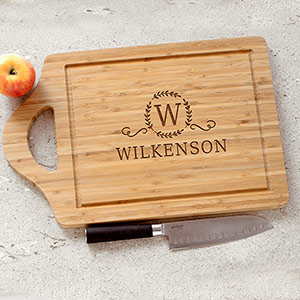 Engraved Large Family Cutting Board
