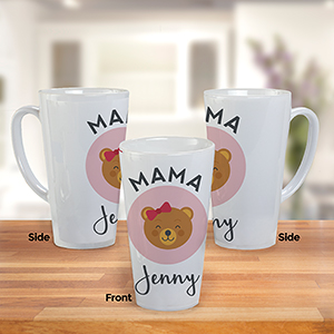 Personalized Mama Bear Latte Mug