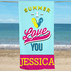 Personalized Love Summer Beach Towel