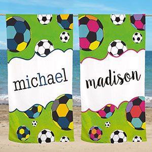 Personalized Sports Beach Towel