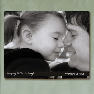 Picture Perfect Father's Day Photo Wall Canvas