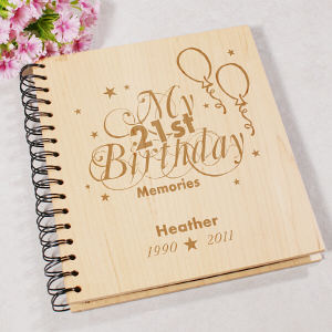 Engraved 21st Birthday Memories Photo Album