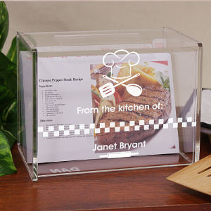 Engraved From The Kitchen Of Acrylic Recipe Box