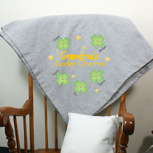 Personalized Lucky Charms Fleece Blanket