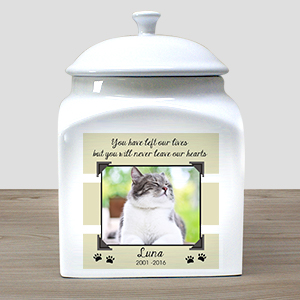 Personalized Photo Cat Urn