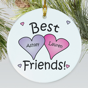 Best Friends Personalized Ornament