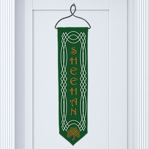 Personalized Celtic Irish Welcome Banner