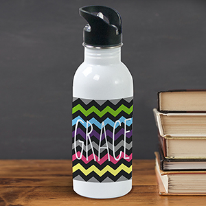 Personalized Chevron Water Bottle