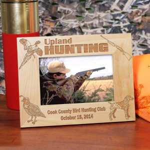 Engraved Upland Hunting Wood Picture Frame