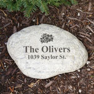 Engraved Family Garden Stone