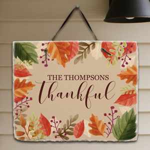 Personalized Thankful Slate Plaque