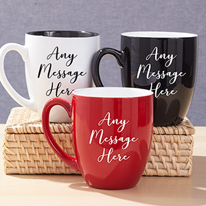 Personalized Any Message Bistro Mug